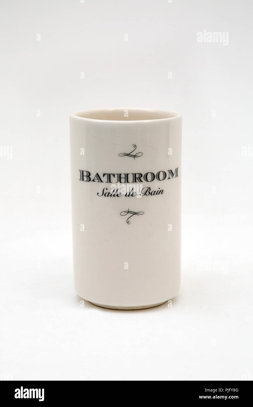 Bathroom Salle De Bain french ceramic toothbrush holder salle de bain (bathroom