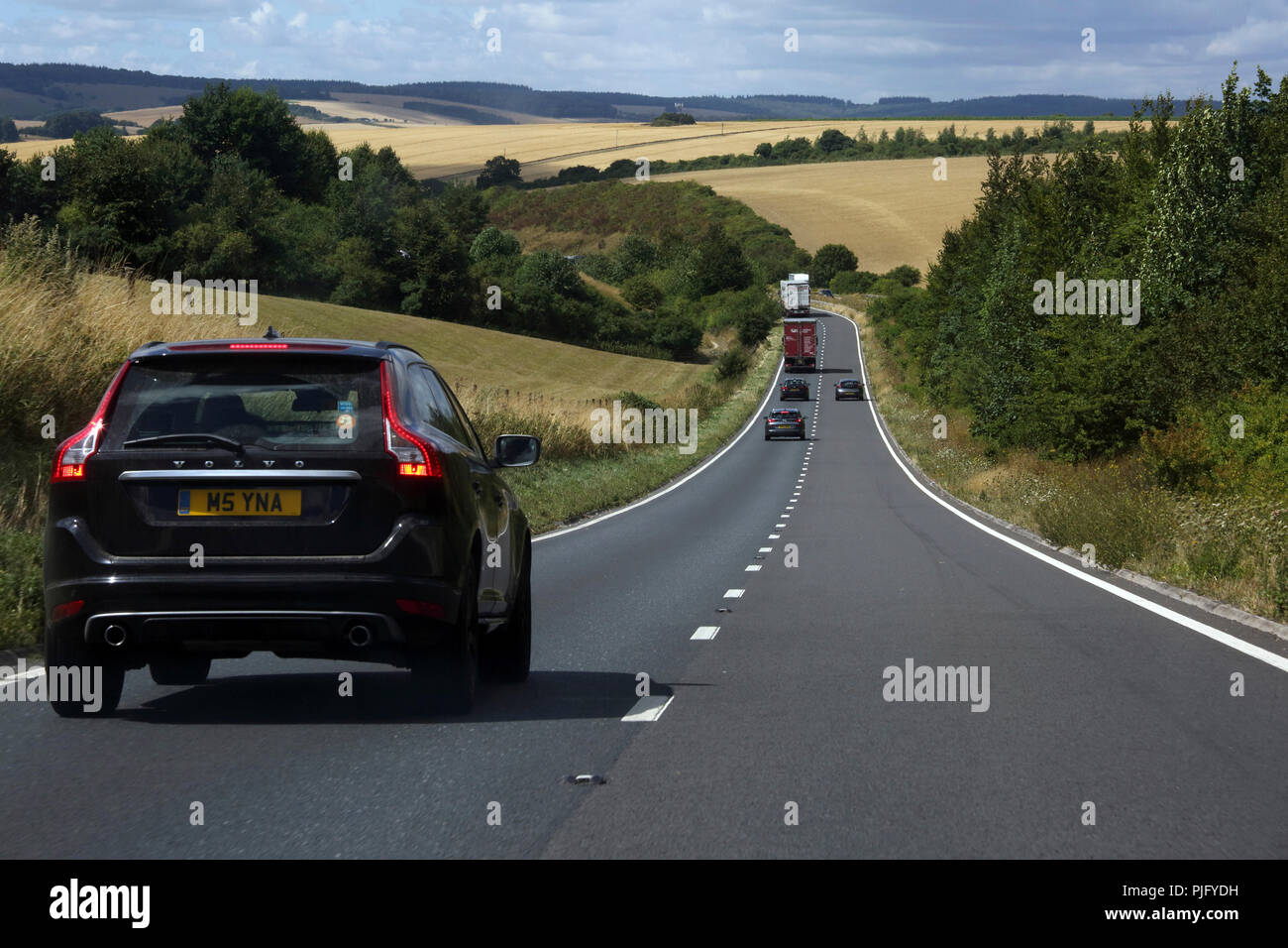 Wiltshire England Traffic on the A303 Trunk Road - Stock Image