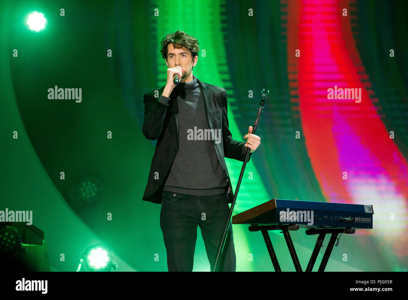 Shanguy during a concert in Gdansk, Poland. August 31st 2018  © Wojciech Strozyk / Alamy Stock Photo *** Local Caption *** - Stock Image