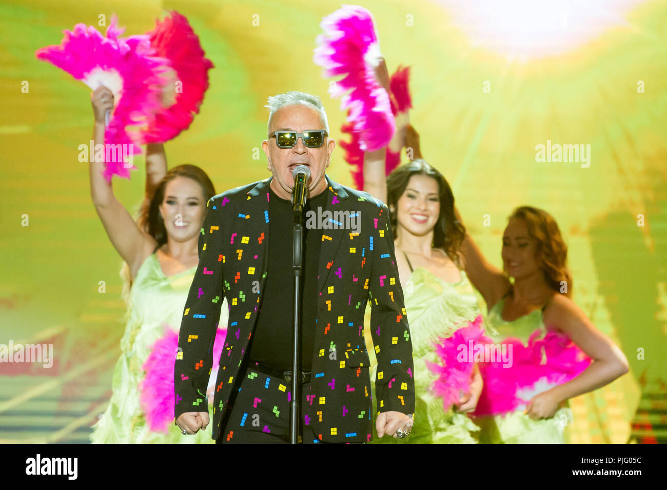 Johnson Righeira during a concert in Gdansk, Poland. August 31st 2018  © Wojciech Strozyk / Alamy Stock Photo *** Local Caption *** - Stock Image