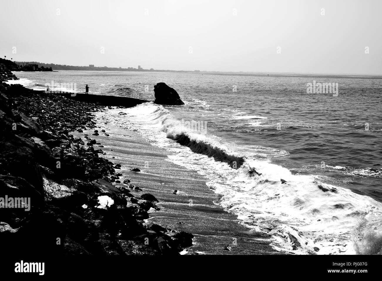 Malibu Beach - Stock Image
