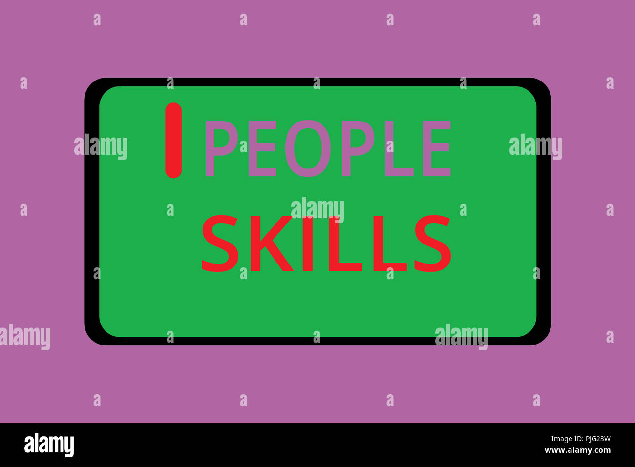Writing note showing People Skills. Business photo showcasing Get Along well Effective Communication Rapport Approachable. - Stock Image