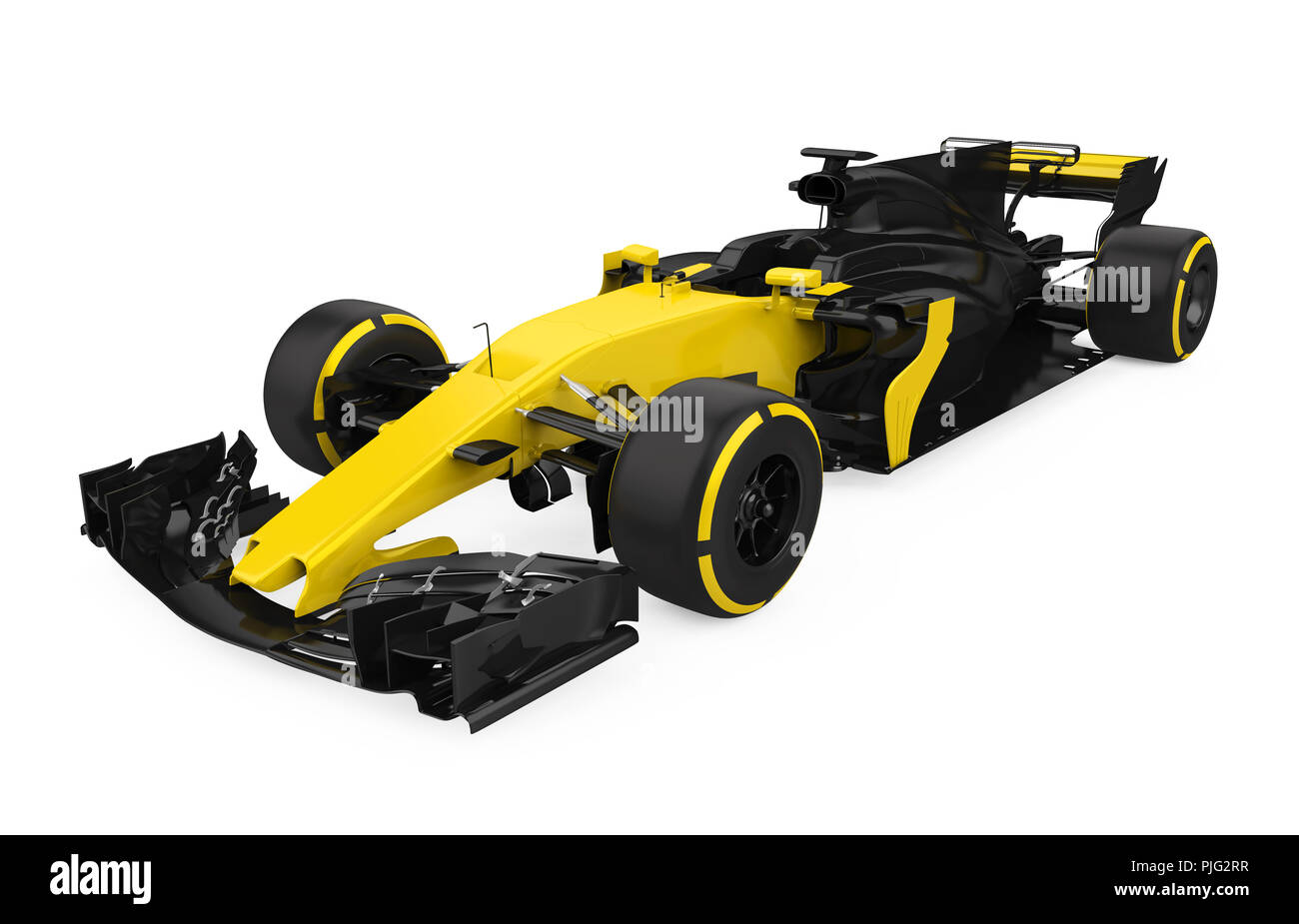 Formula One Race Car Isolated - Stock Image