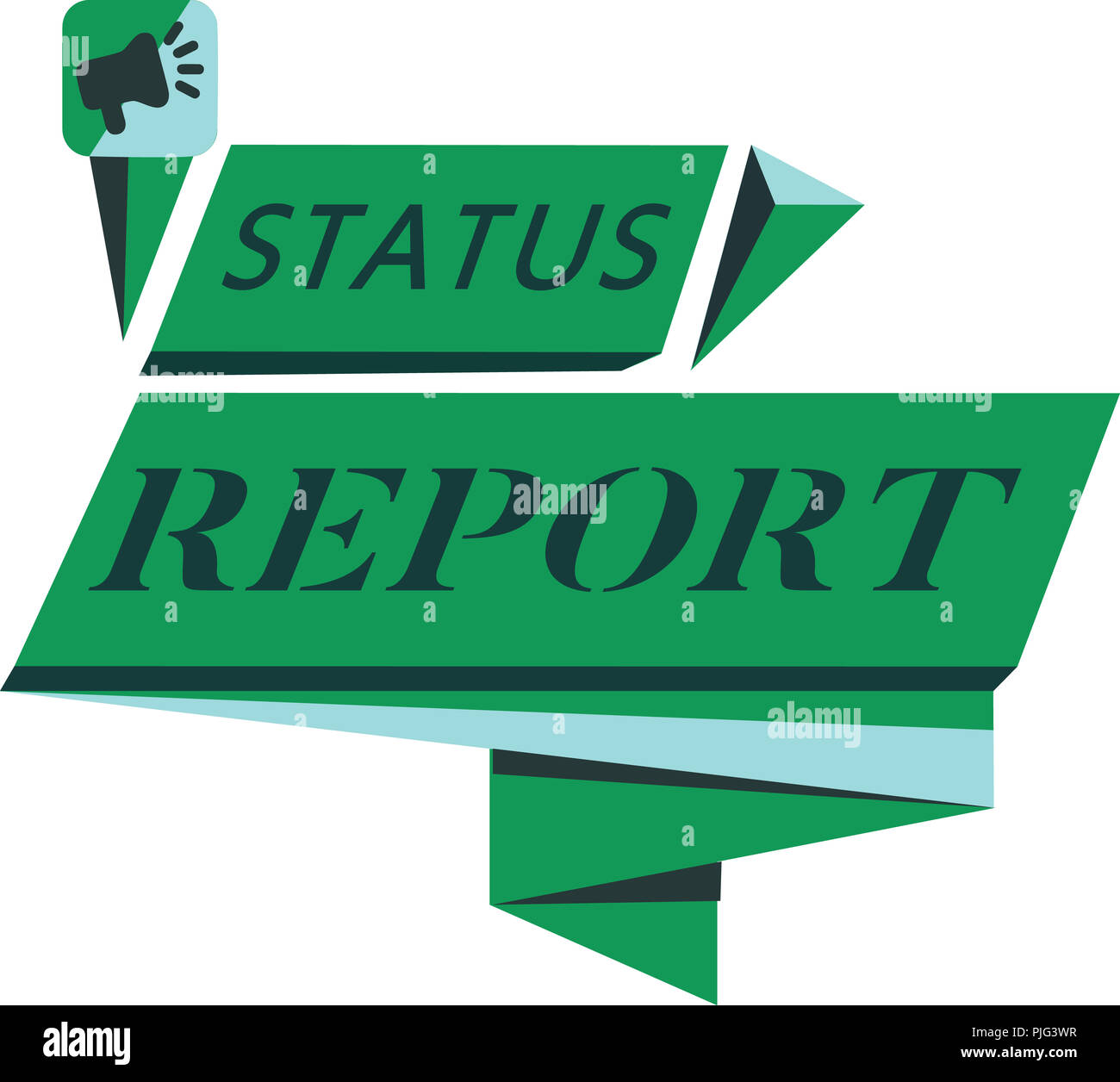 conceptual hand writing showing status report business photo text