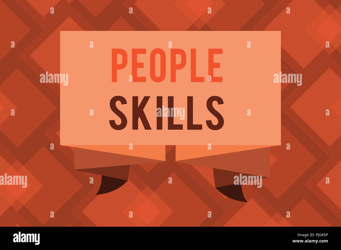 Conceptual hand writing showing People Skills. Business photo text Get Along well Effective Communication Rapport Approachable. - Stock Image