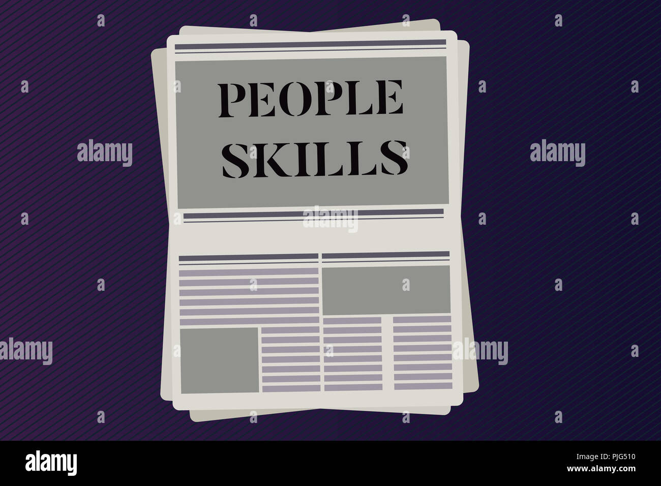 Word writing text People Skills. Business concept for Get Along well Effective Communication Rapport Approachable. - Stock Image