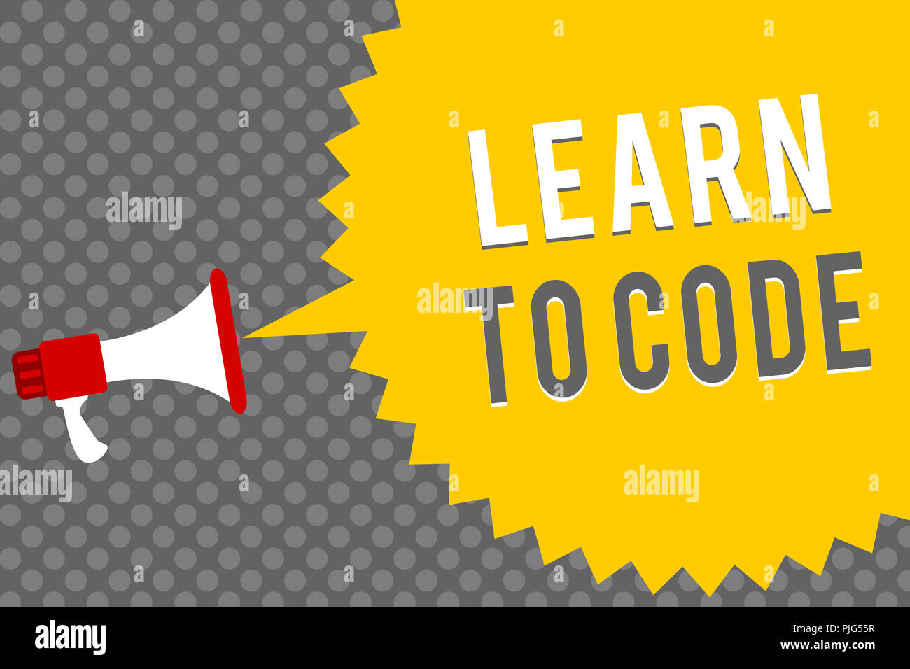 Handwriting text writing Learn To Code  Concept meaning
