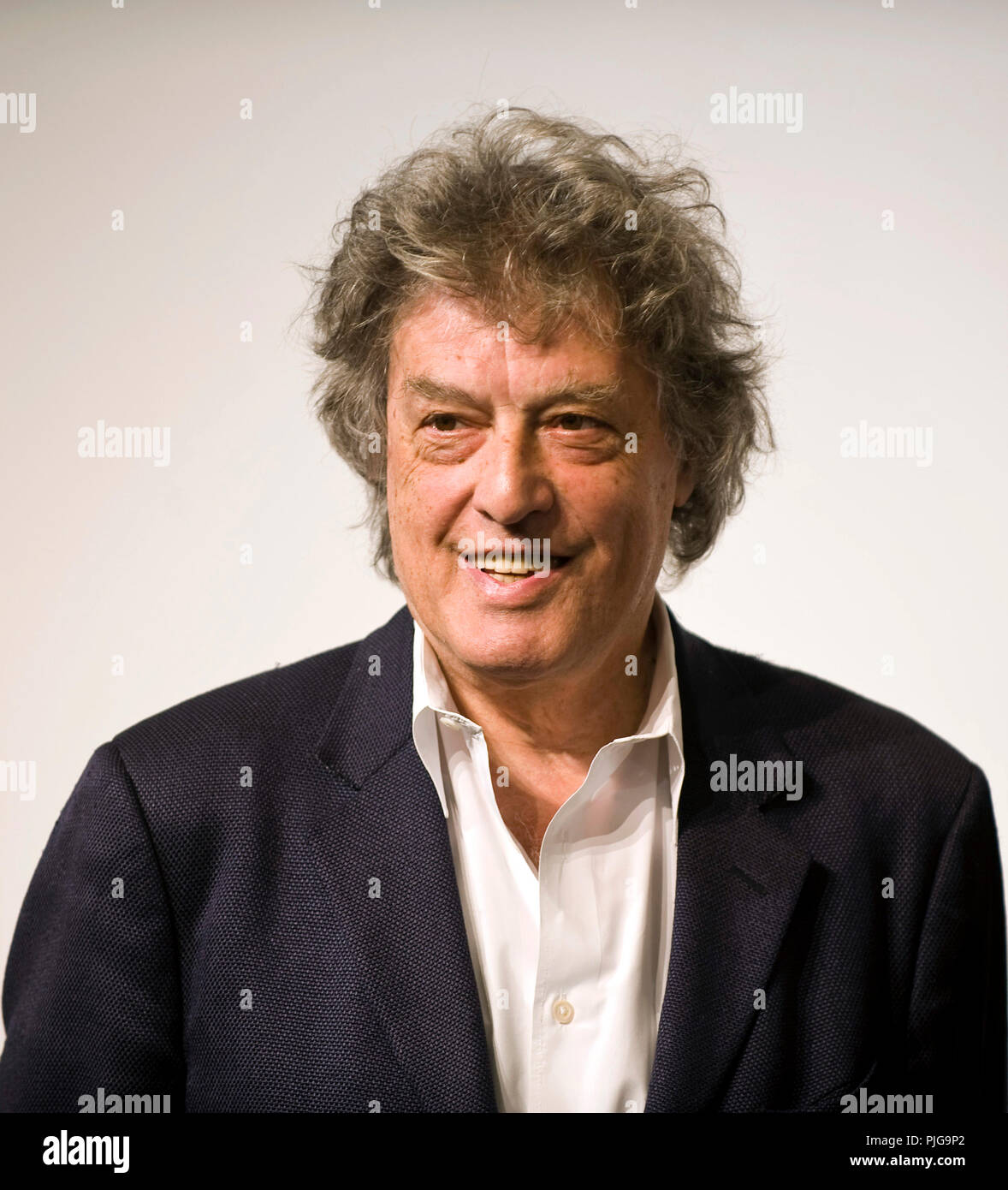British playwright Tom Stoppard attends a media event formally announcing the winners of the Praemium Imperiale, a global arts prize that is awarded a - Stock Image