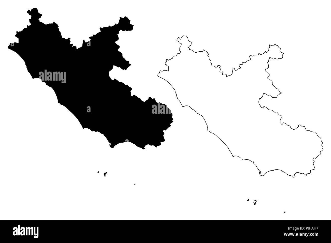 Cartina Lazio.Lazio Map High Resolution Stock Photography And Images Alamy