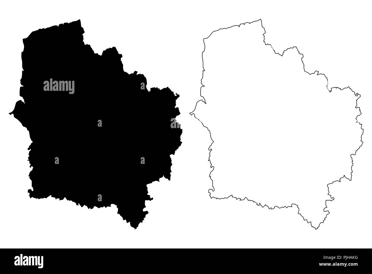 Hauts-de-France (France, administrative region) map vector ... on