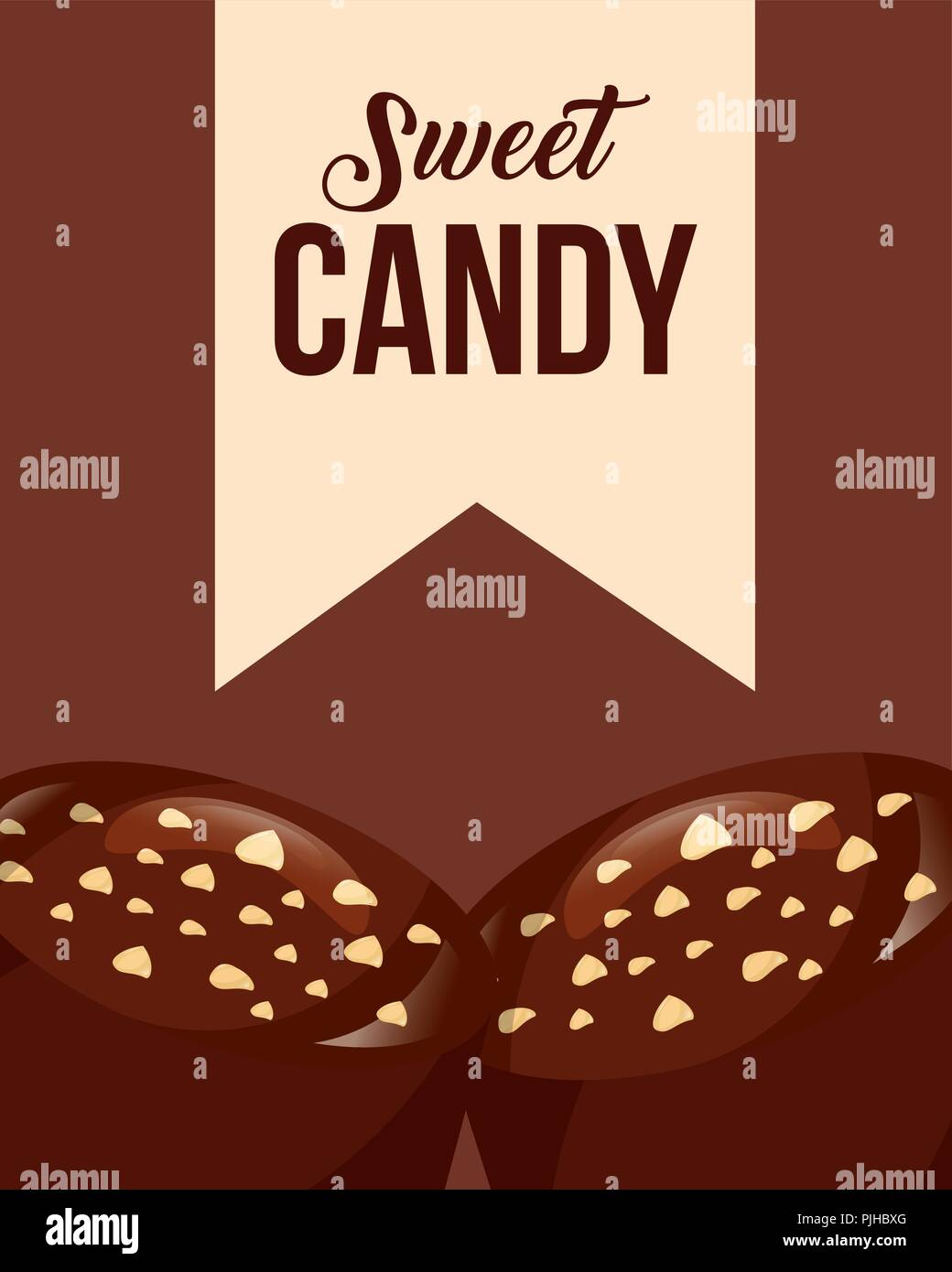 sweet candy card - Stock Vector