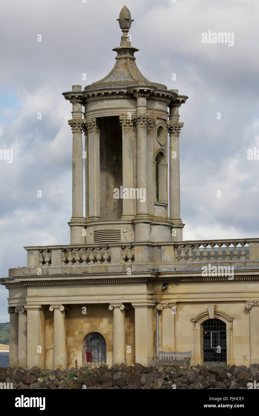 Normanton Church in Rutland is on the edge of Rutland Water - Stock Image