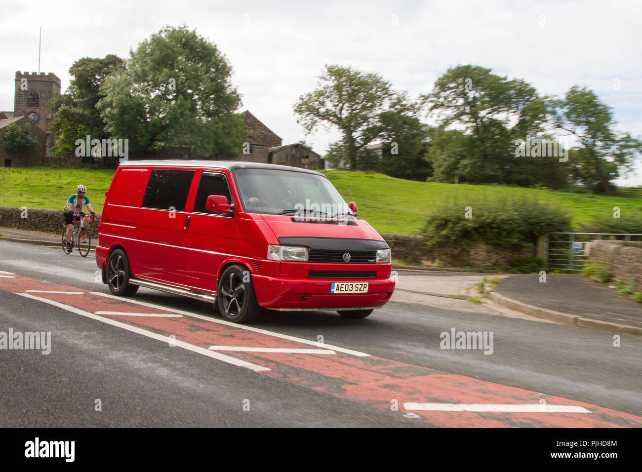 2003 Volkswagen Transporter TDI SWB Classic, vintage, veteran, cars of yesteryear, restored collectibles at Hoghton Tower Car Rally, UK - Stock Image