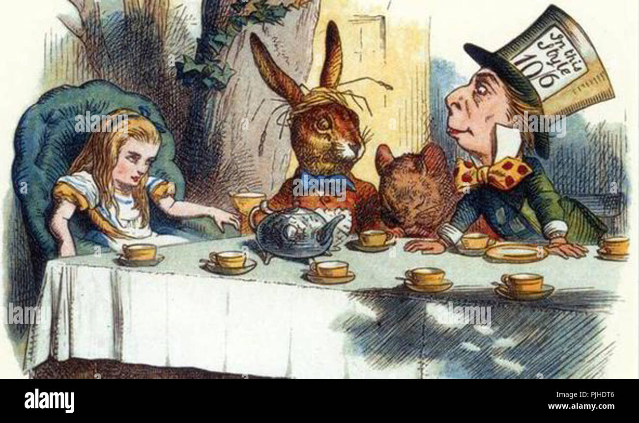 vintage john tenniel alice in wonderland illusstrator original artwork - Stock Image