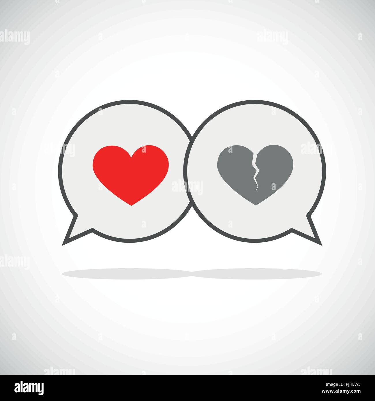 communication love and separation speach bubble icon vector illustration EPS10 - Stock Vector