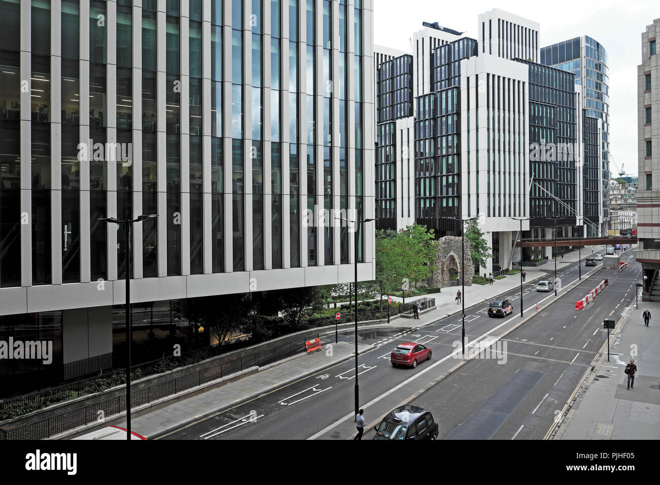 London Wall Place new modern office building development at London Wall in the City of London UK  KATHY DEWITT - Stock Image
