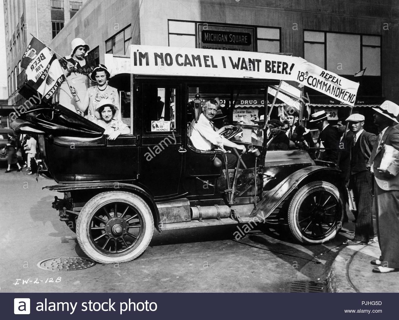 American prohibition - Stock Image