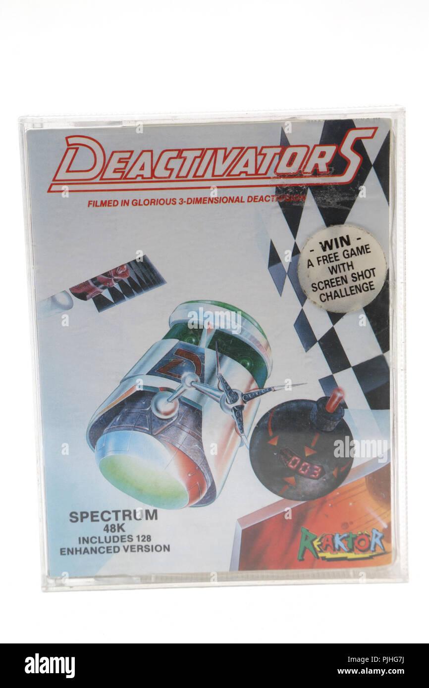 1980's Computer Game Deactivators Spectrum 48K Cassette - Stock Image
