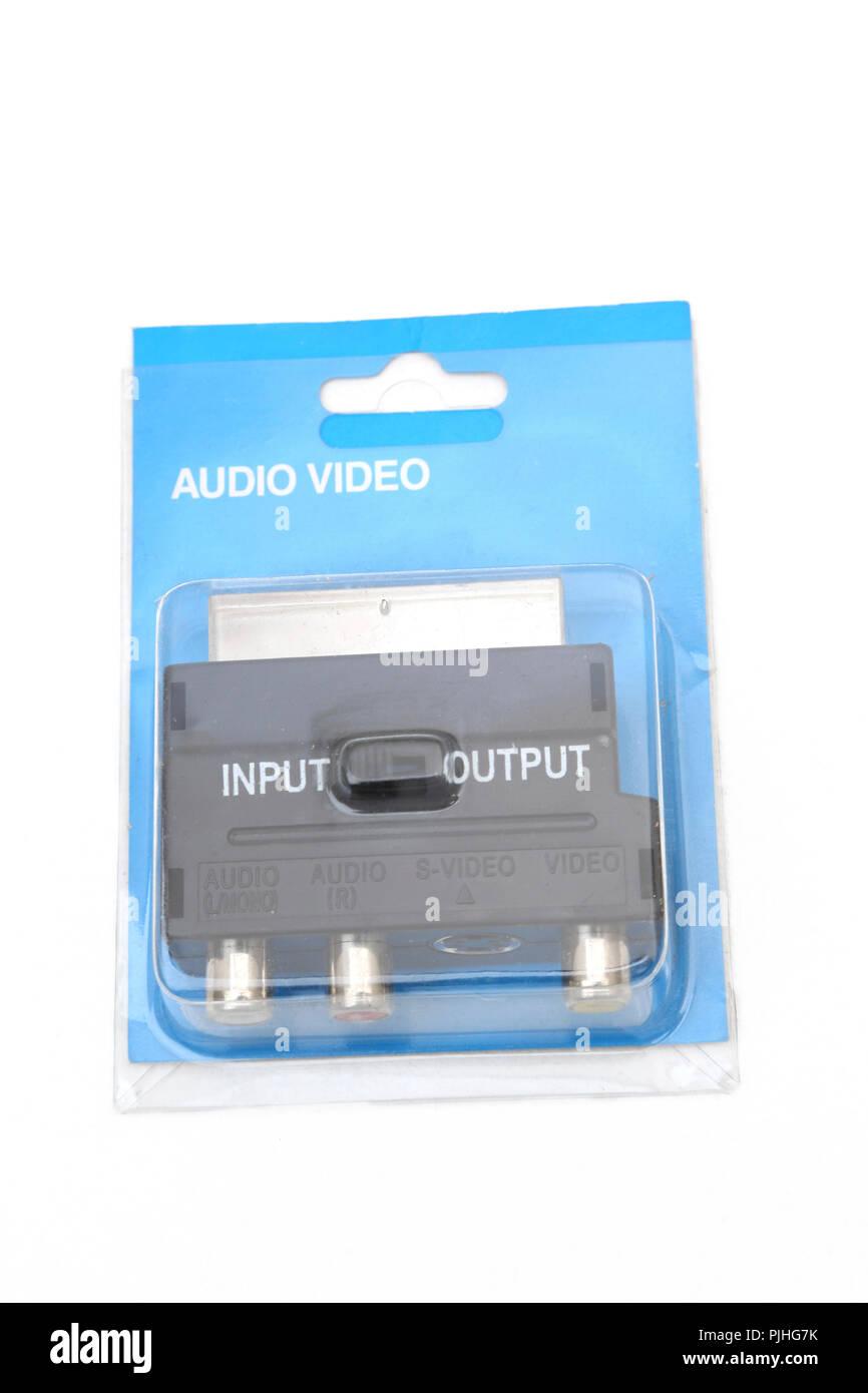 Audio Video Input Output Scart - Stock Image