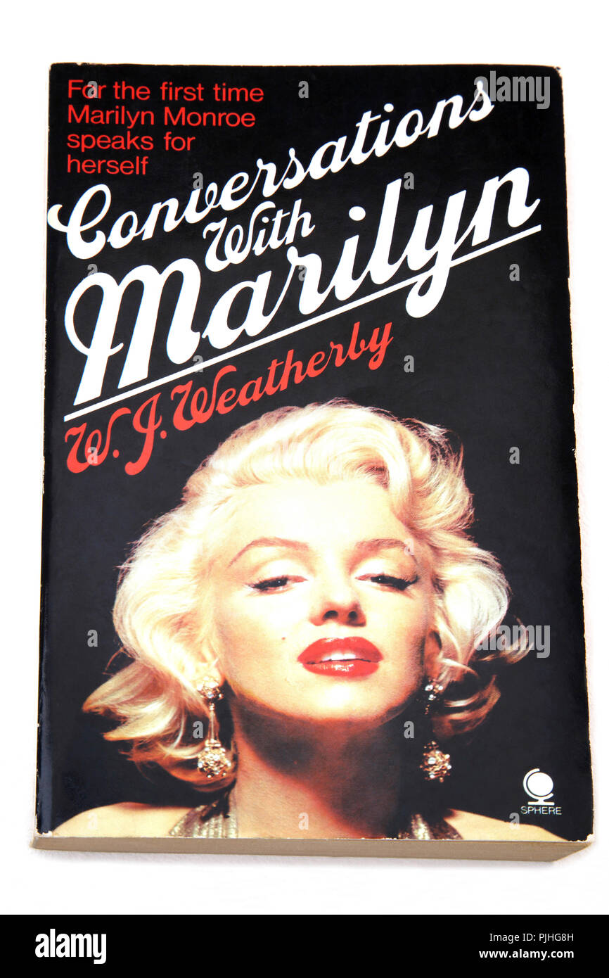 Paperback Book on Marilyn Monroe - Conversations with Marilyn - Stock Image