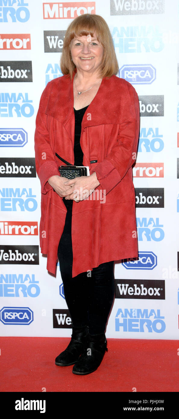 Photo Must Be Credited ©Alpha Press 078237 06/09/2018 Lesley Nicol Animal Hero Awards 2018 At Grosvenor House Hotel London - Stock Image
