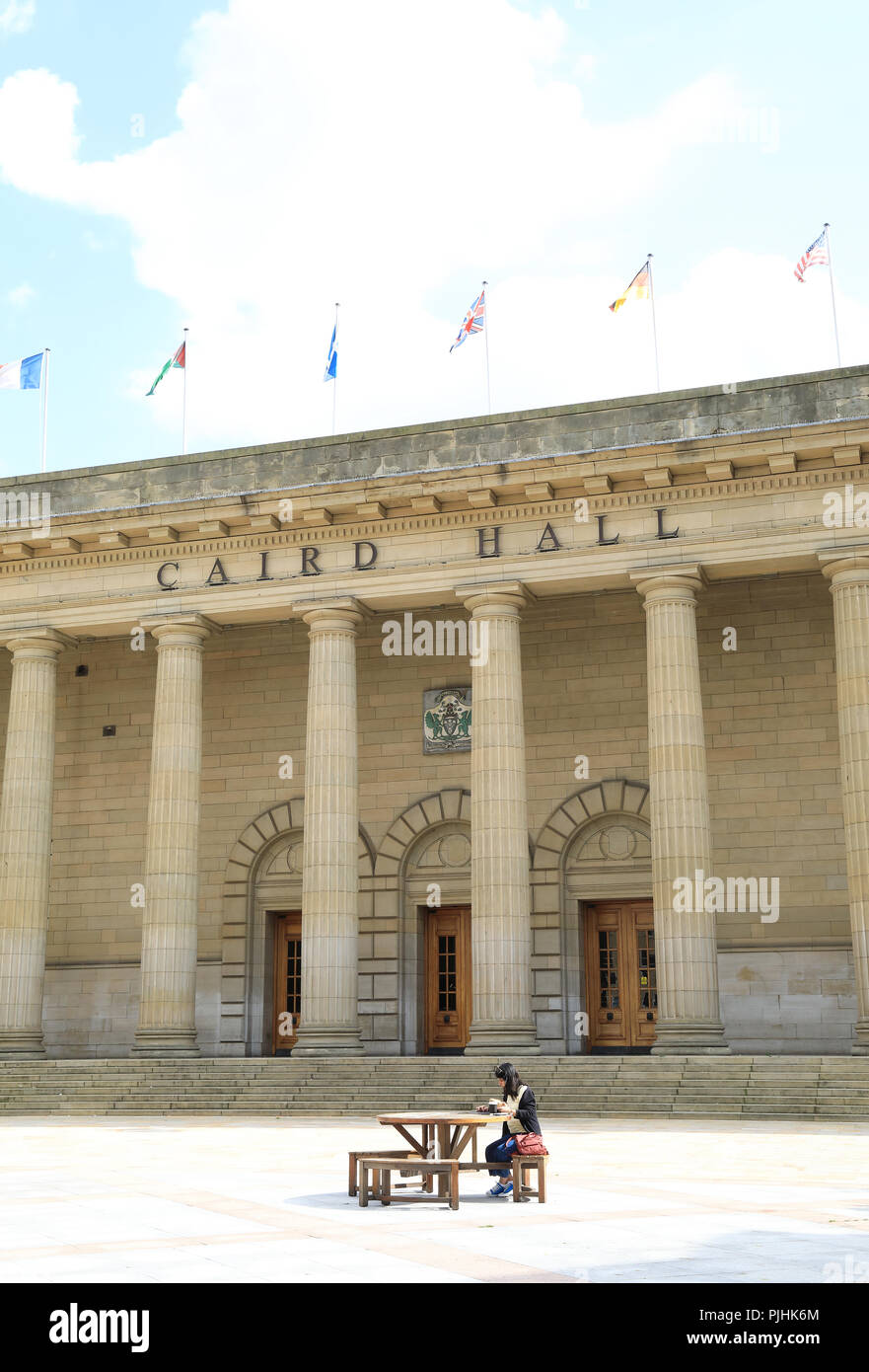 Caird Hall, a concert auditorium on City Square, in the centre of Dundee, on Tayside, in Scotland, UK - Stock Image