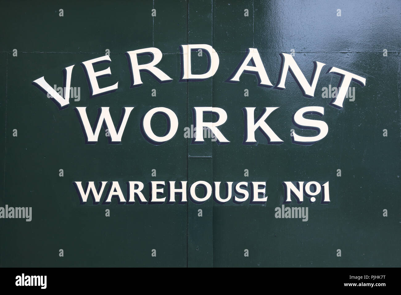 Verdant Works, a restored mill showing the stages of local 19th-20th century jute production, a huge industry in Dundee, on Tayside, Scotland, UK - Stock Image