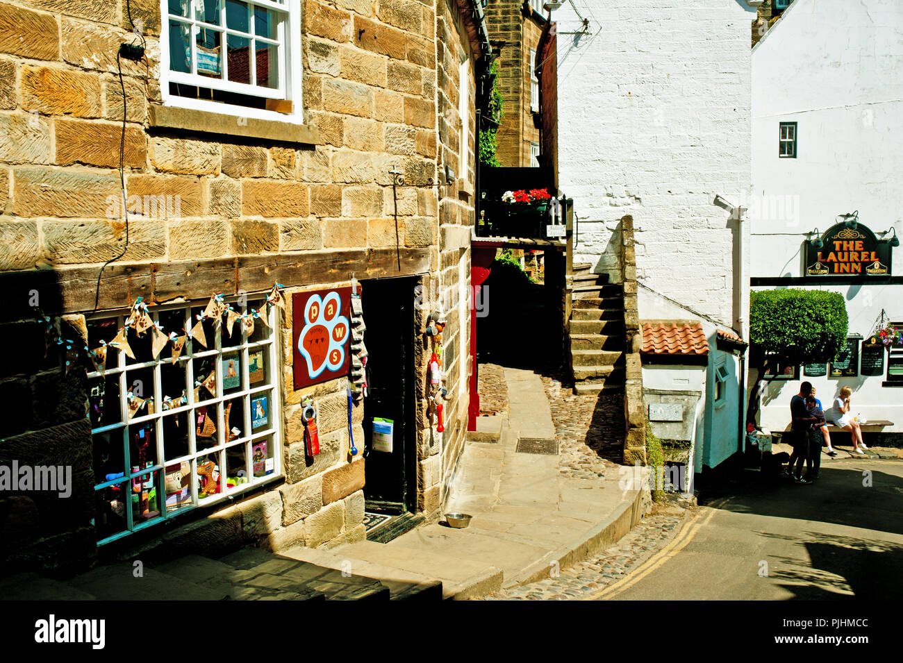 Tourist Shop, Robin Hoods Bay, North Yorkshire, England - Stock Image