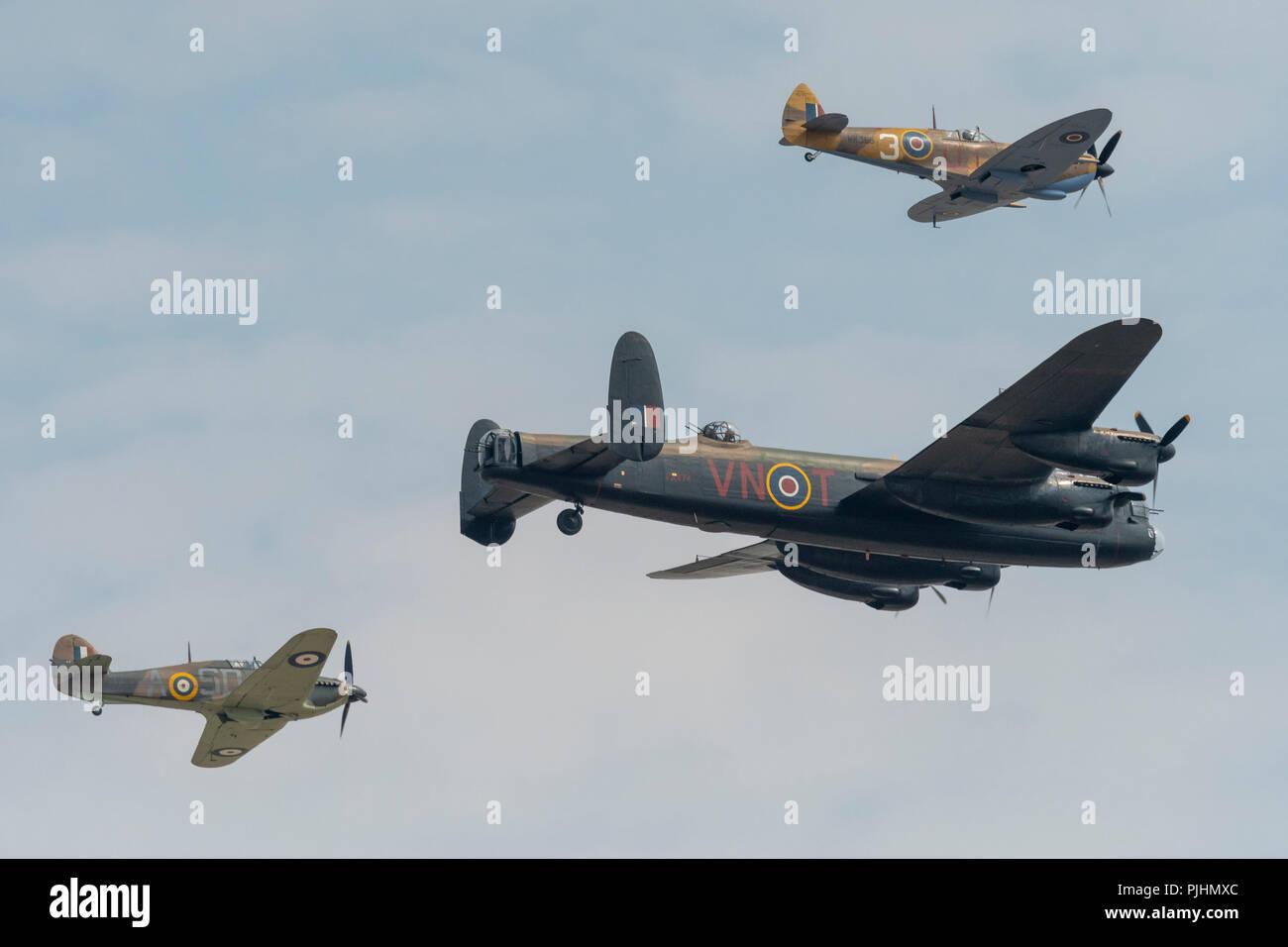 RAF Battle of Britain Memorial Flight, RIAT 2018, RAF Fairford, UK Stock Photo