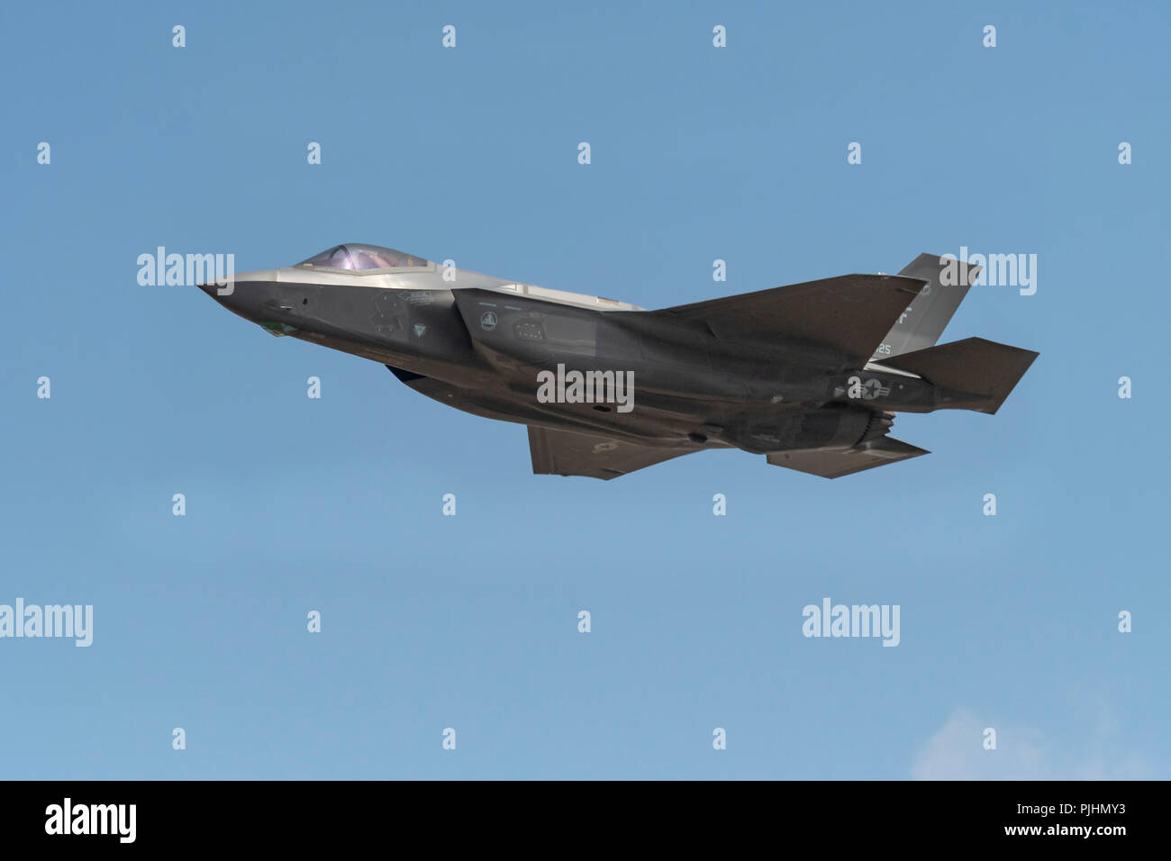 USAF F-35 Lightning, RIAT, RAF Fairford, UK - Stock Image
