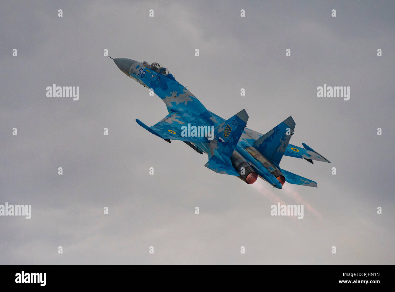 Ukrainian Su-27 Flanker, RIAT 2018, RAF Fairford, UK Stock Photo