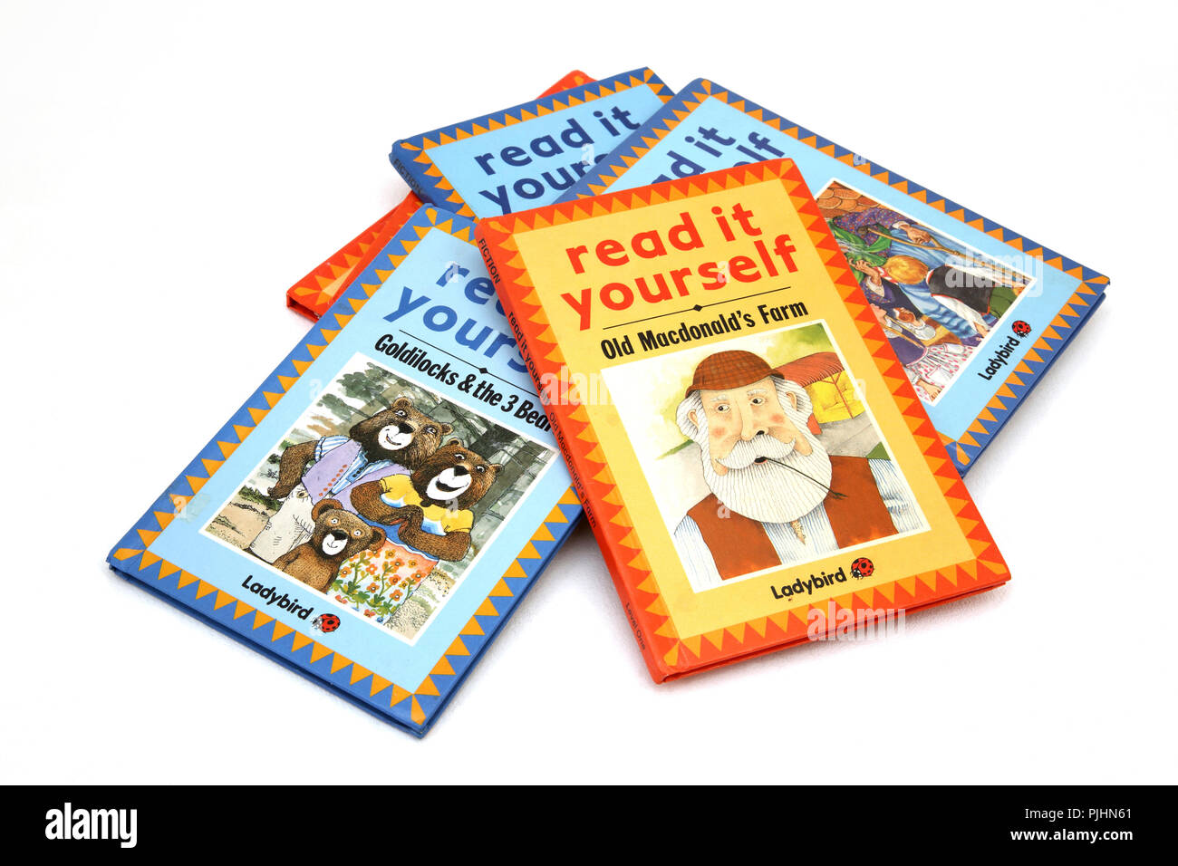 A Pile of Ladybird Read It Yourself Books - Stock Image