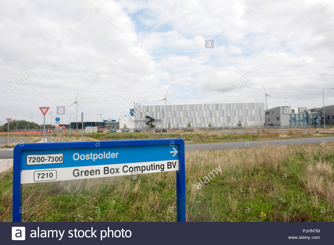Eemshaven The Netherlands Google datacenter. Green Box Computing BV is a daughter company of Google. Stock Photo