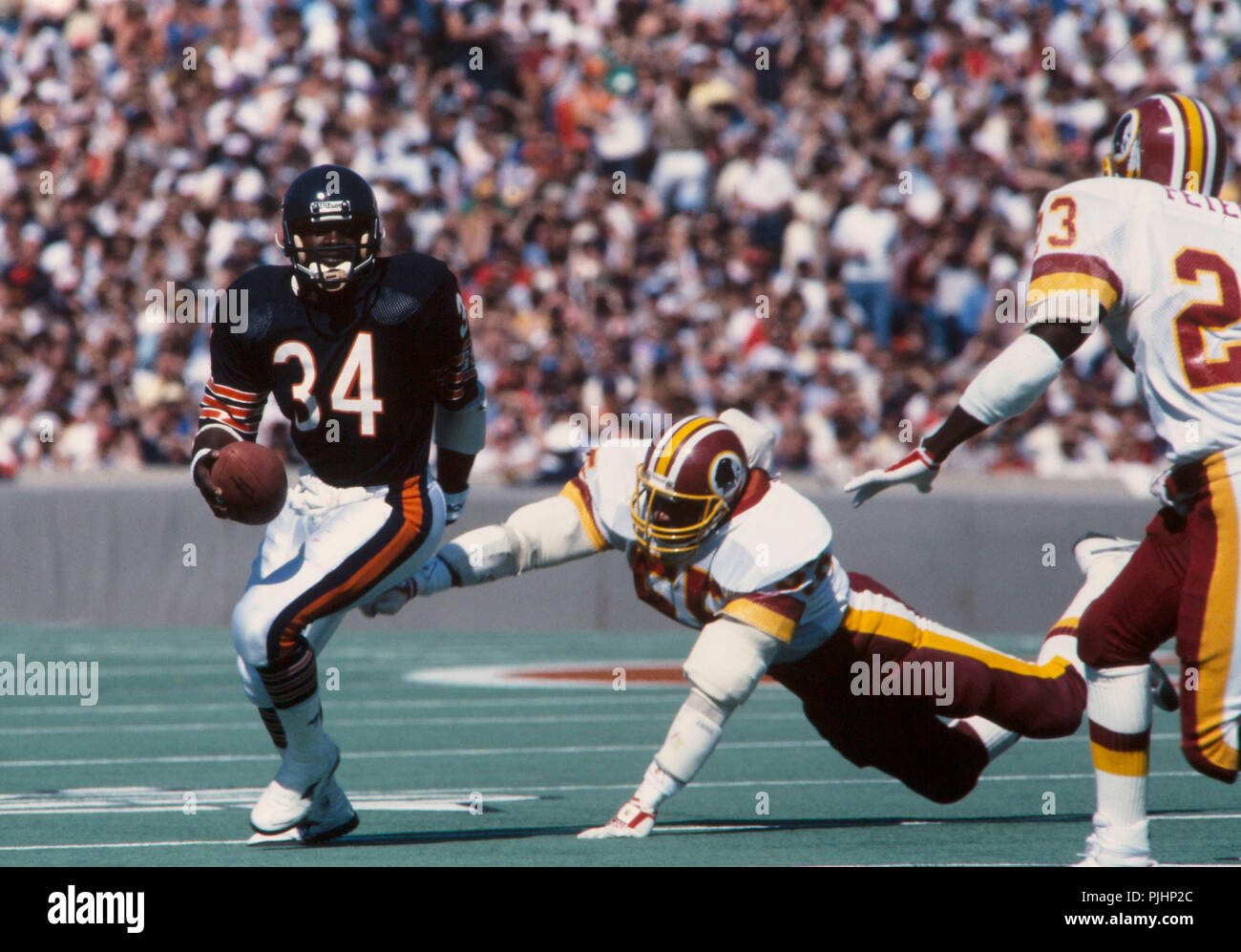 Chicago Bears Running Back Walter Payton In Action During