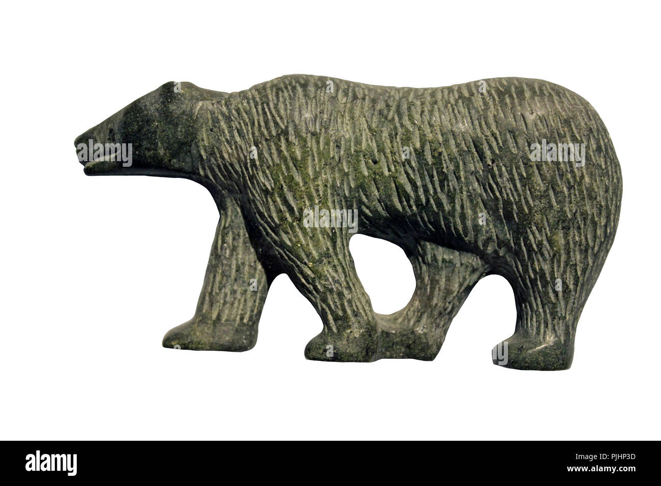 Inuit Soapstone Carving Of A Polar Bear - Stock Image