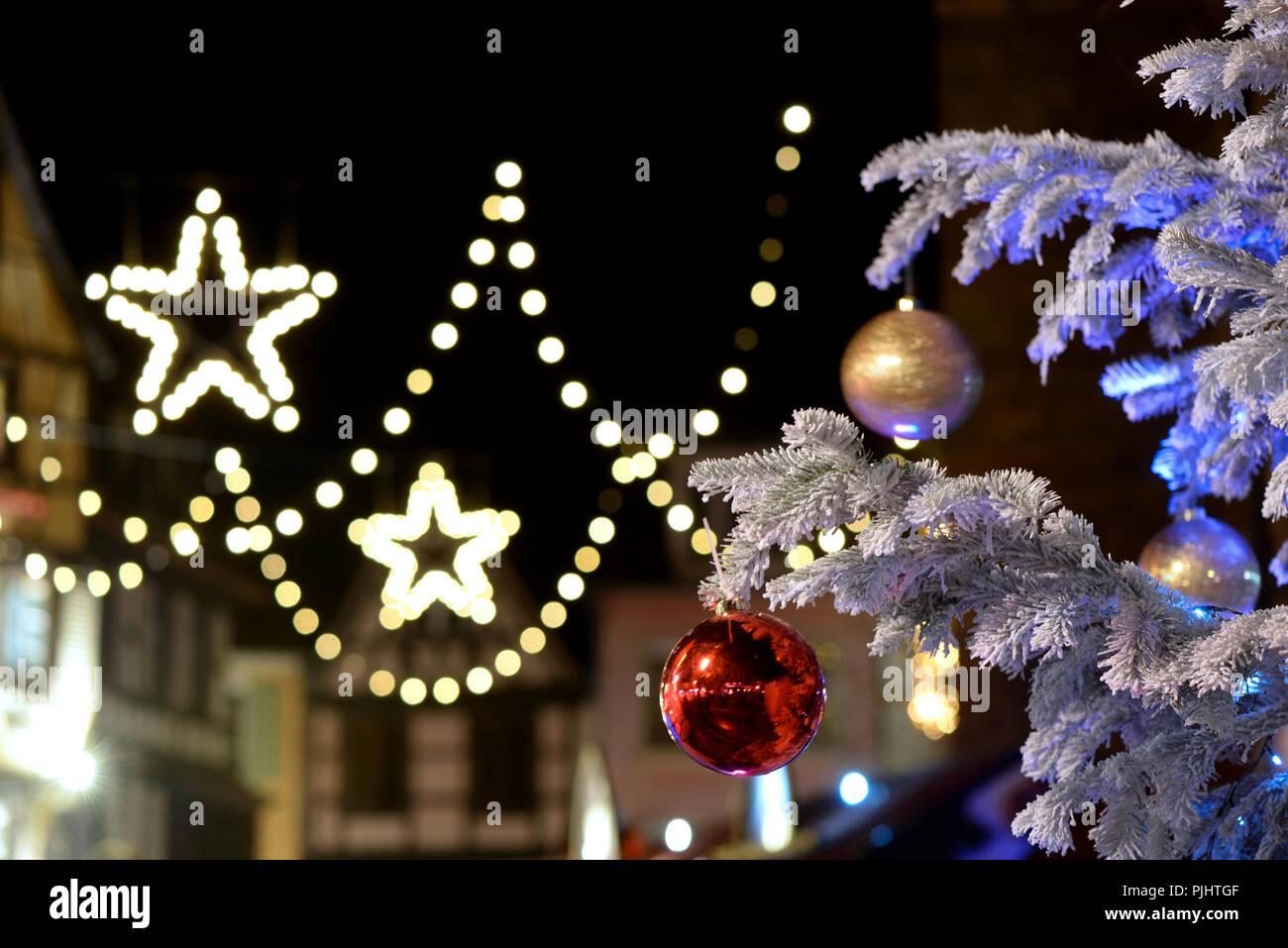Christmas Atmosphere At NightColmarAlsaceFrance