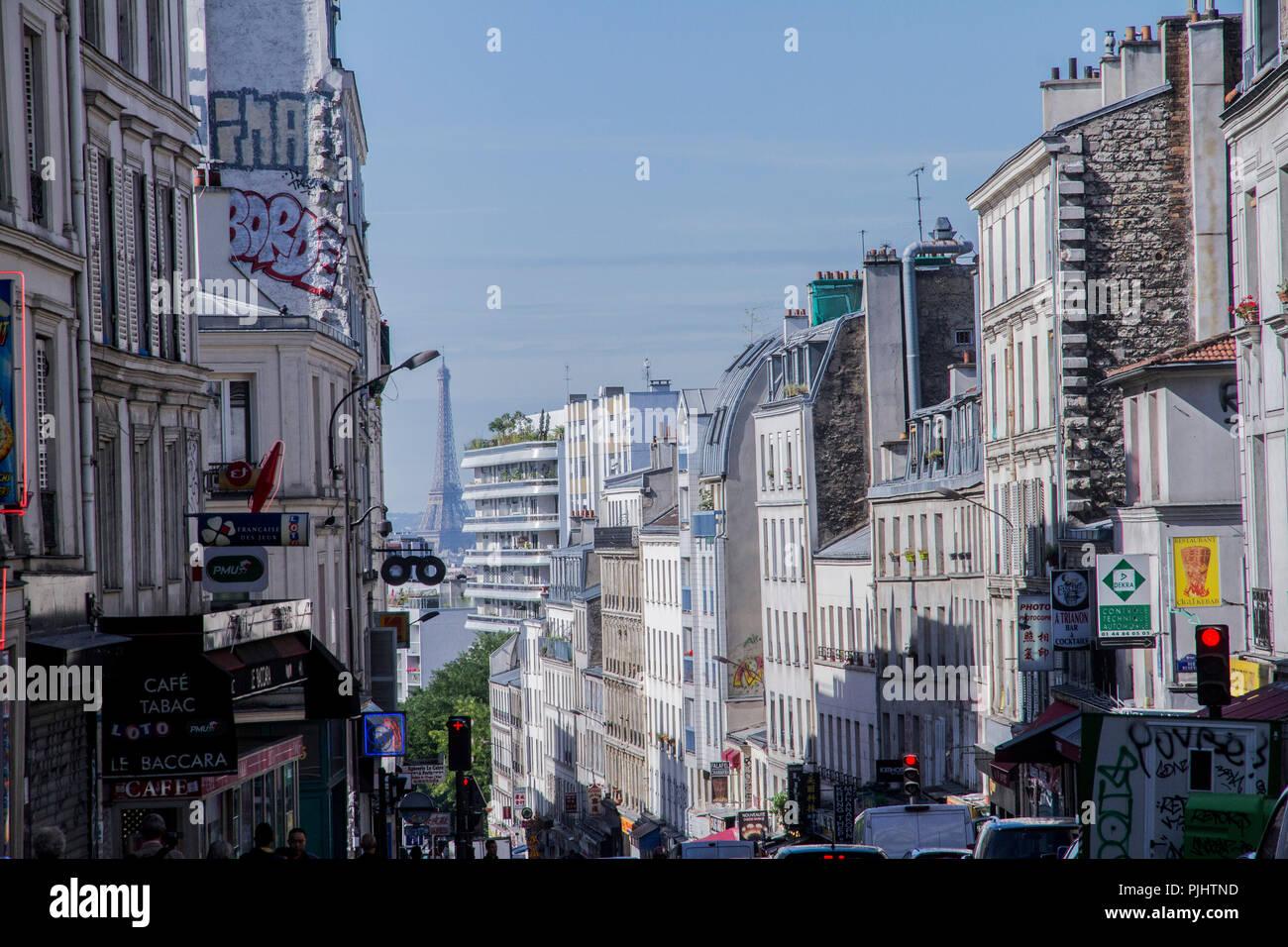France, Paris, Belleville street, 20th arrondissement chinatown Stock Photo