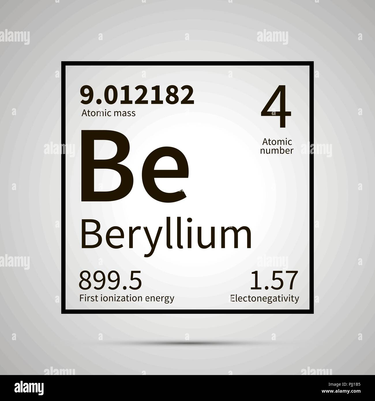 Barium Chemical Element With First Ionization Energy Atomic Mass