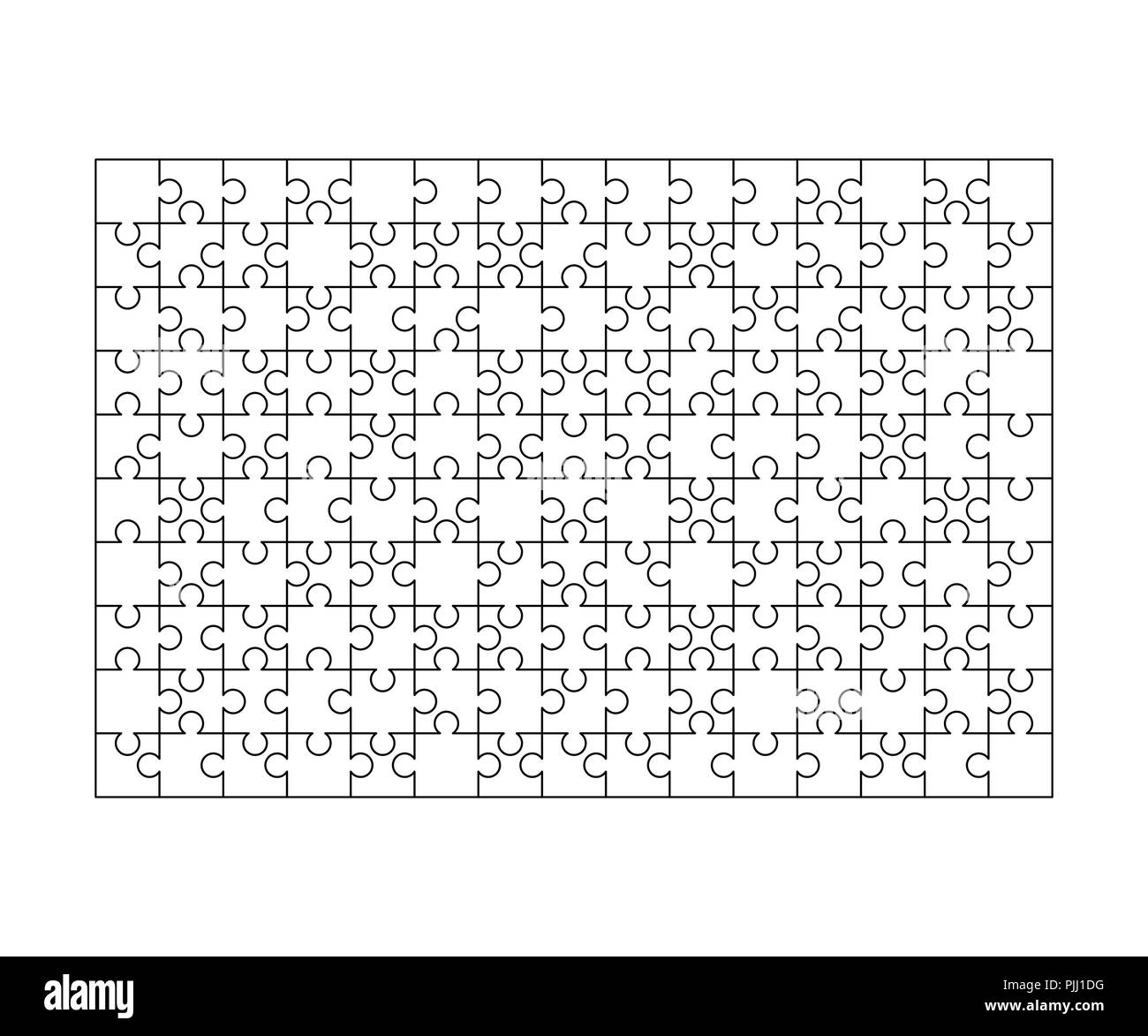200 White Puzzles Pieces Arranged In A Rectangle Shape Jigsaw
