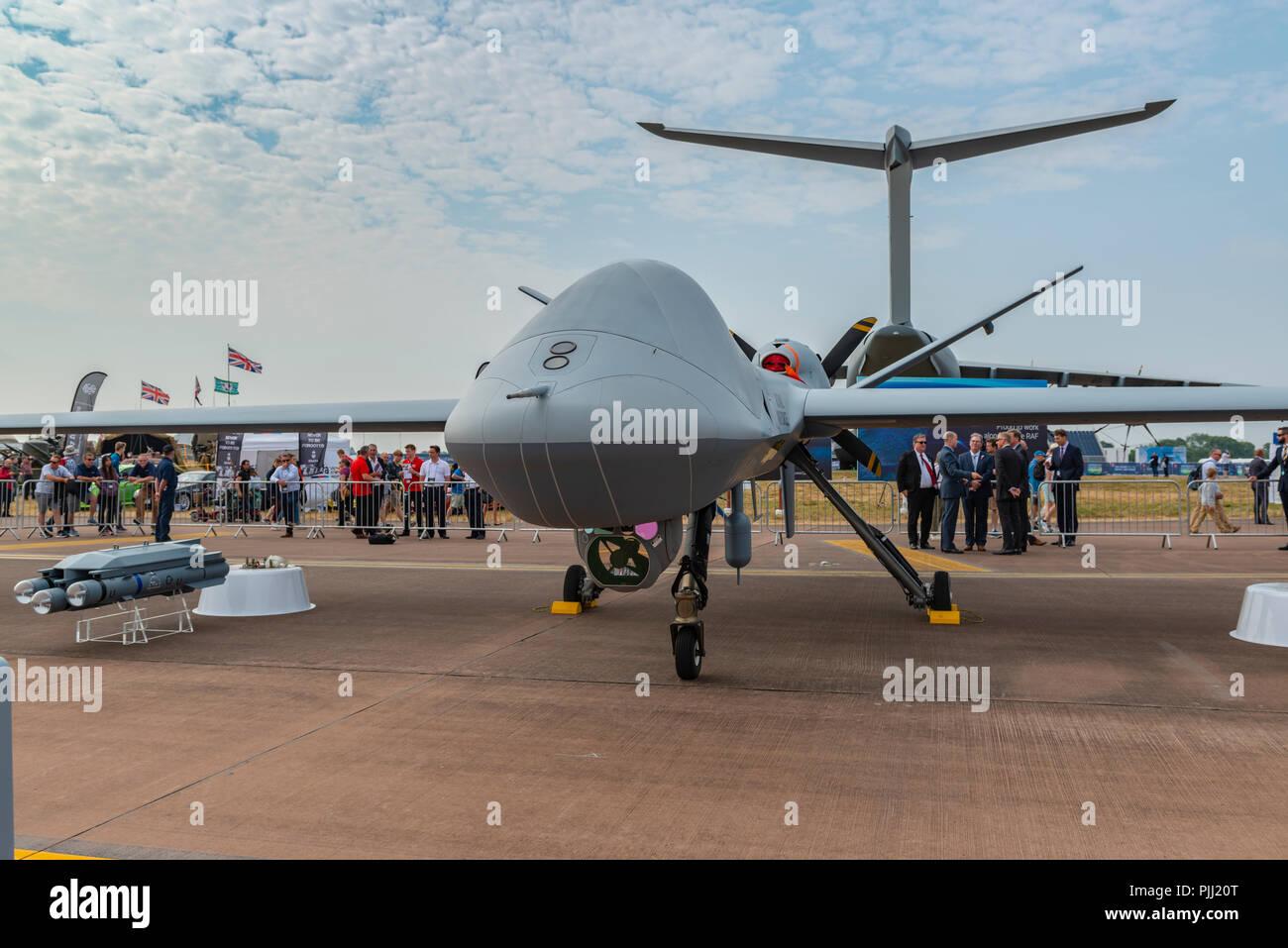 General Atomics Aeronautical Systems' MQ-9B SkyGuardian, RIAT 2018, UK - Stock Image