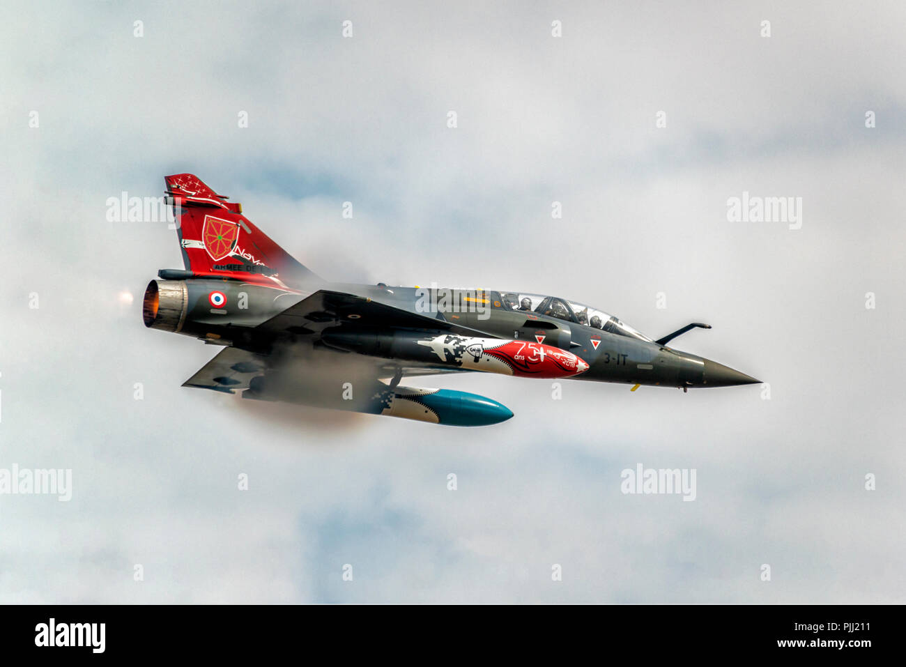 Dassault Mirage 2000D, French Air Force, RIAT, RAF Fairford 2018 Stock Photo