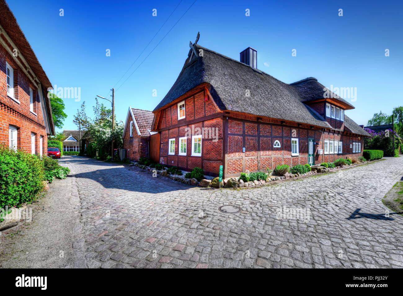Half-timbered houses and lanes in the Stegelviertel in new narrow nurse, Hamburg, Germany, Europe, Fachwerkhäuser und Gassen im Stegelviertel in Neuen Stock Photo