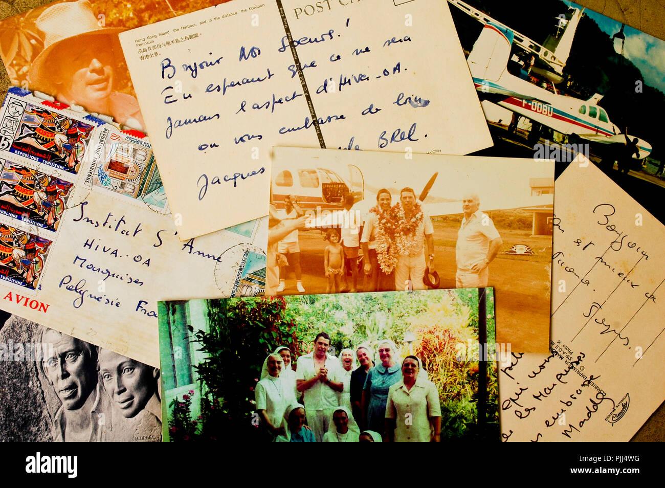 JACQUES BREL Postcard France