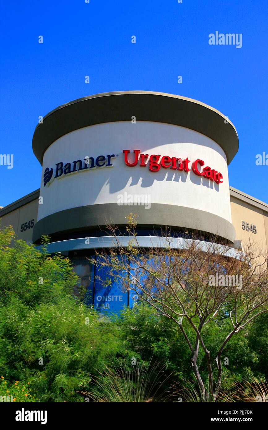 University of Arizona, Banner University Medical Group Urgent Care building in Tucson AZ - Stock Image