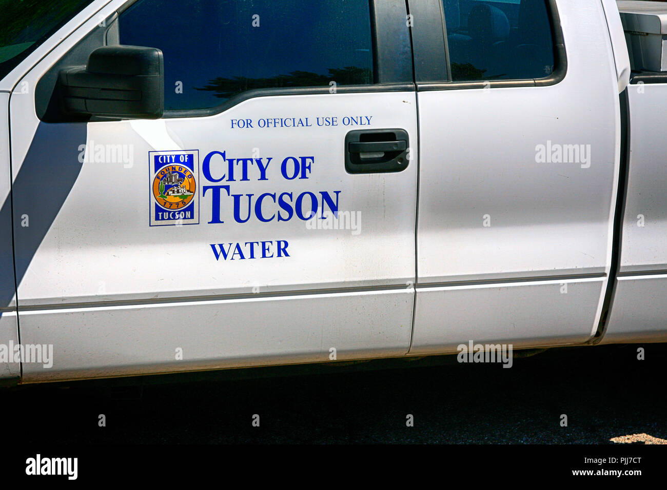 Official vehicle of the City of Tucson Water Dept - Stock Image