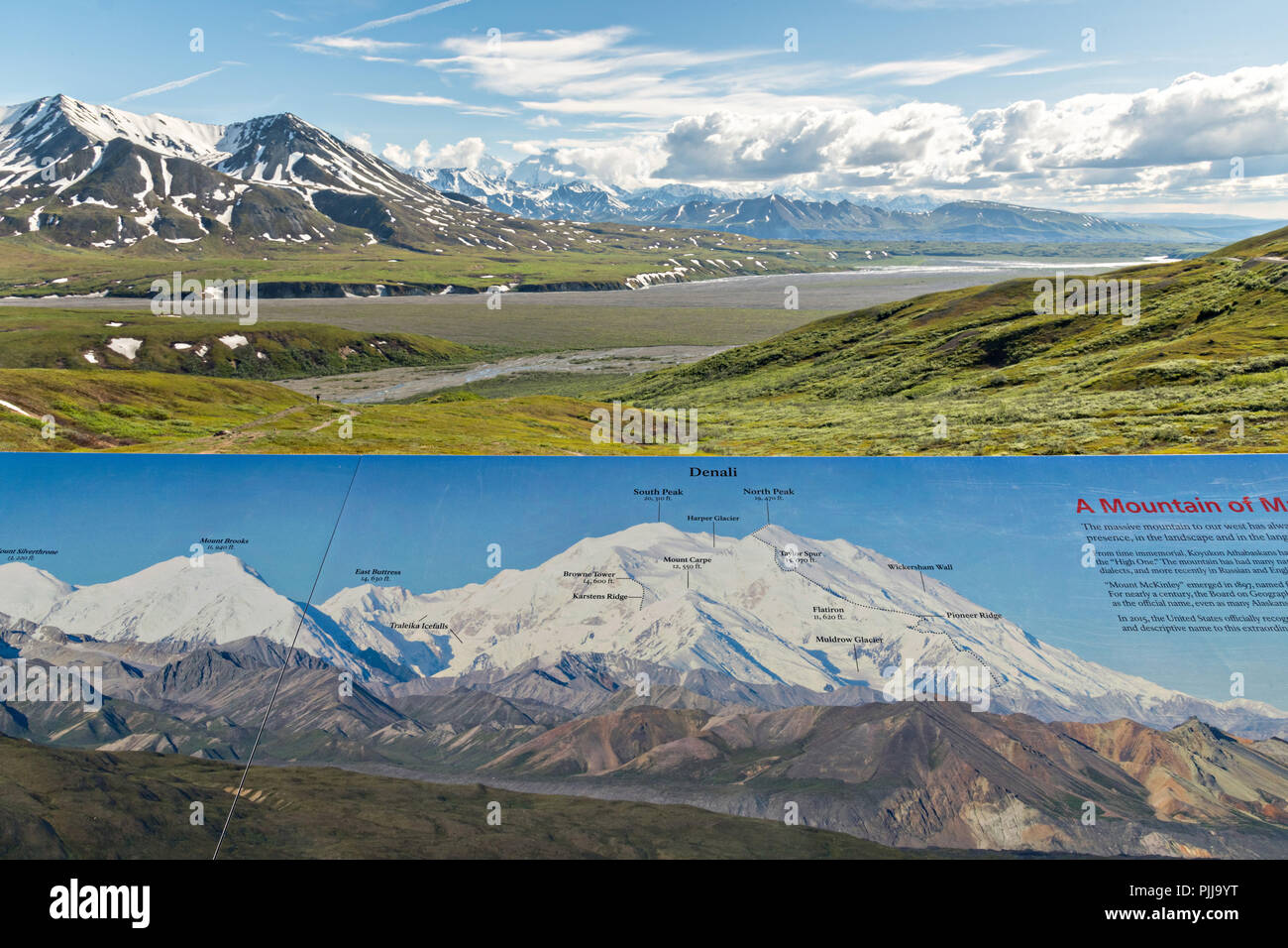 Bluff Alaska Map.Map Showing What Is Ahead In View Including The Alaska Range Denali