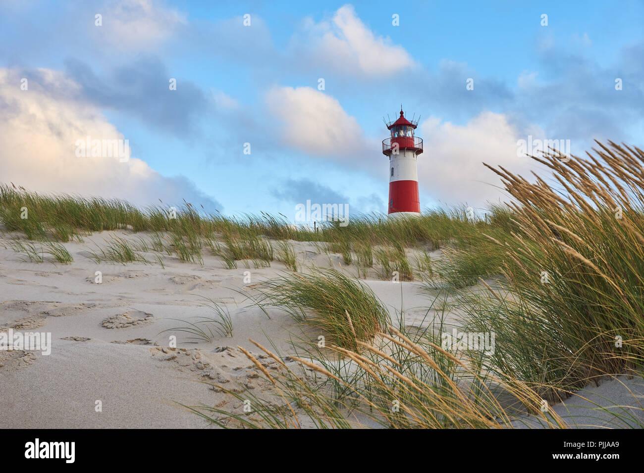 Lighthouse List Ost On The Island Sylt Germany Stock Photo