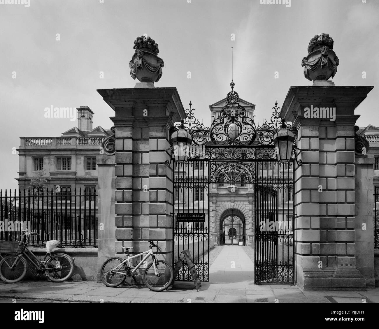 Trinity Lane entrance to Clare College Cambridge - Stock Image