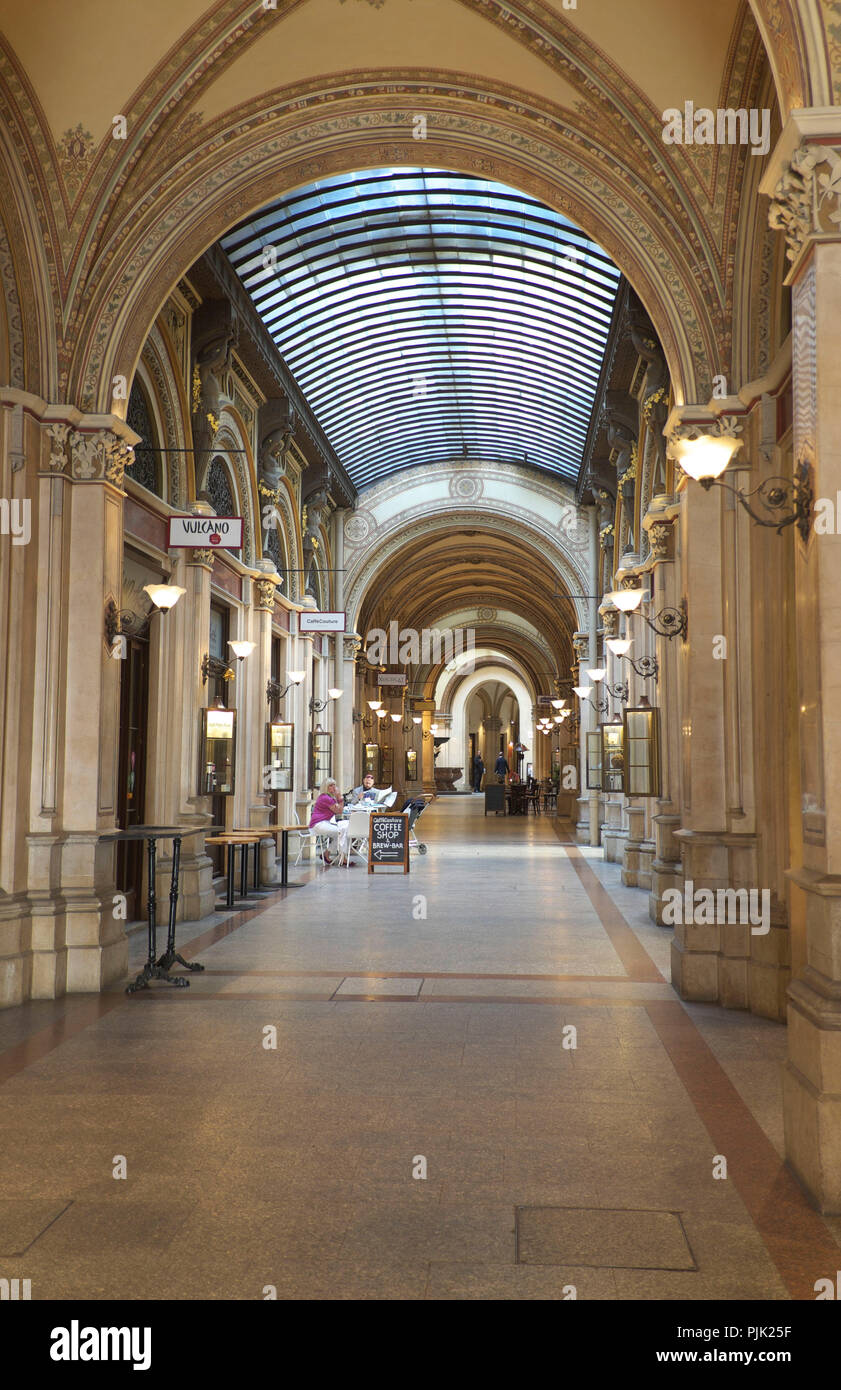 Vienna, Palais Ferstel, shopping arcade - Stock Image