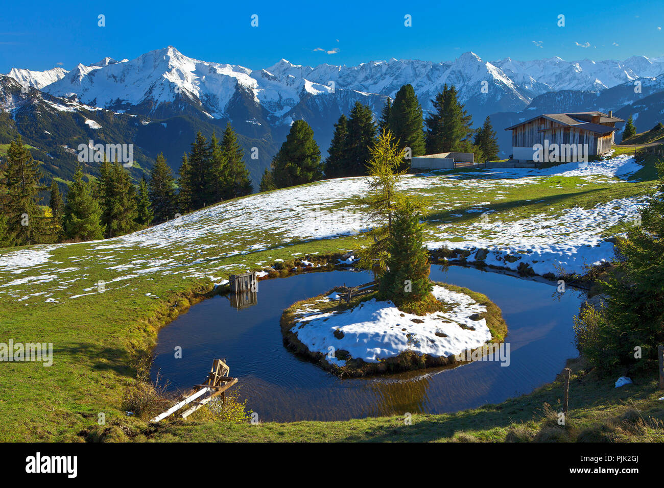 Austria, Tyrol, on the Zillertal high road Stock Photo